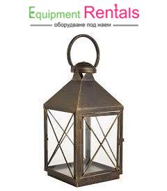 Златен свещник фенер 35см под наем