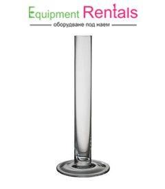Стъклена ваза цилиндър 35см под наем
