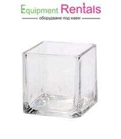 Квадратна стъкленица 10см под наем